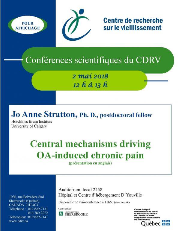 Medical conference: Central mechanisms driving OA-induced chronic pain @ Auditorium, local 2458  Hôpital et centre d'hébergement D'Youville | Sherbrooke | Québec | Canada